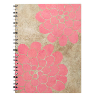 Vintage White Dahlia Floral Wedding Notebooks