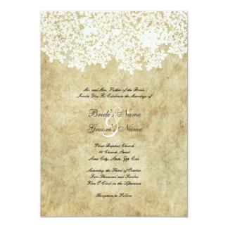 Vintage White Floral Wedding Invitations