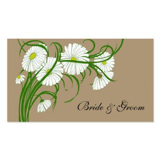Vintage White Gerber Daisy Flowers Wedding Set Pack Of Standard Business Cards