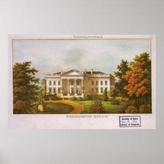 Vintage White House Artwork (1870) Poster