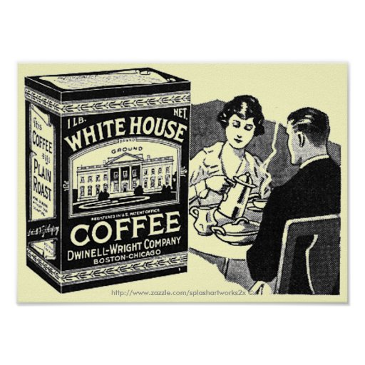 Vintage White House Coffee ad-poster