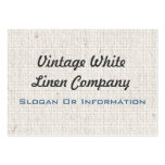 Vintage White Linen Business Cards