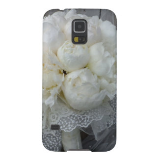 Vintage White Peonies Bridal Bouquet Galaxy S5 Cover