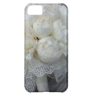 Vintage White Peonies Bridal Bouquet iPhone 5C Case