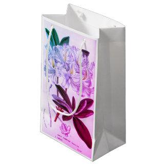 Vintage white pink azalea flower gift bag