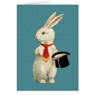 Vintage White Rabbit Card