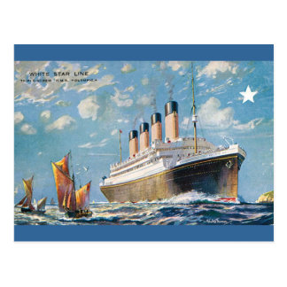 Vintage White Star Olympic Ship Postcard