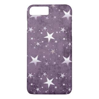 vintage white stars on purple background art iPhone 7 plus case