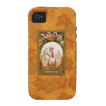 Vintage White Thanksgiving Turkey iPhone 4/4S Cover