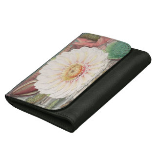 Vintage white water lily wallet