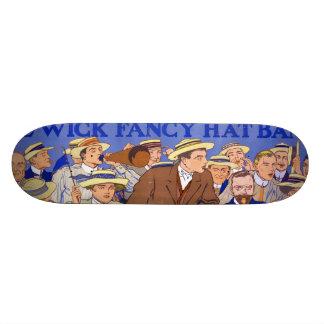 Vintage Wick Fancy Hat Band Advertisement Skate Board Decks