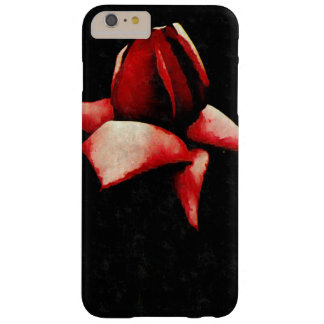 Vintage Wide Open Stylized Red Rose Barely There iPhone 6 Plus Case
