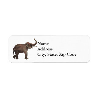 Vintage Wild Animals, Good Luck Asian Elephants Return Address Label