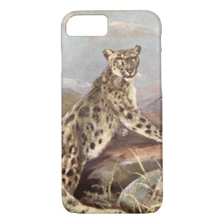 Vintage Wild Animals, Snow Leopard by CE Swan iPhone 8/7 Case