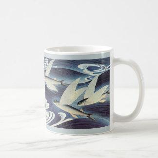 Vintage Wild Aquatic Animals, Flying Fish in Ocean Mugs