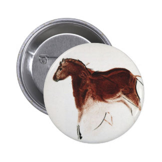 Vintage Wild Horse Cave Painting Buttons