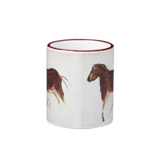 Vintage Wild Horse Cave Painting Coffee Mugs