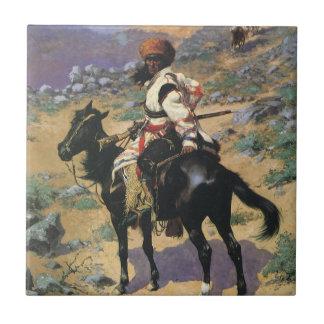 Vintage Wild West, An Indian Trapper by Remington Tile