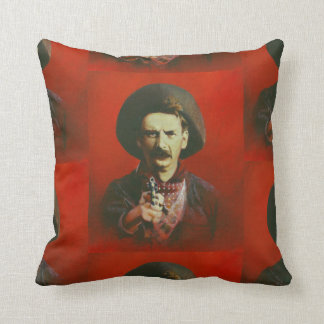 Vintage Wild West Outlaw Square Throw Cushion