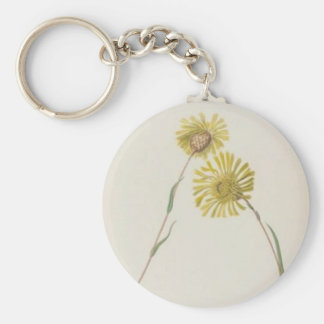 Vintage Wildflowers: Yellow Wildflowers Keychain