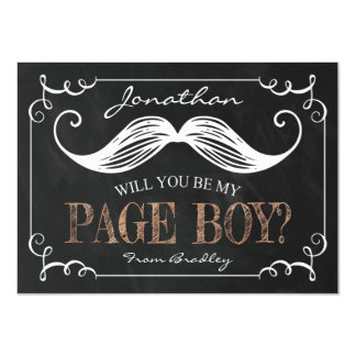 VINTAGE WILL YOU BE MY PAGE BOY   GROOMSMAN CARD