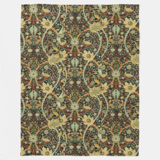 Vintage William Morris Bullerswood Carpet Fleece Blanket