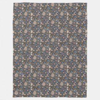 Vintage William Morris Evenlode Textile Design Fleece Blanket