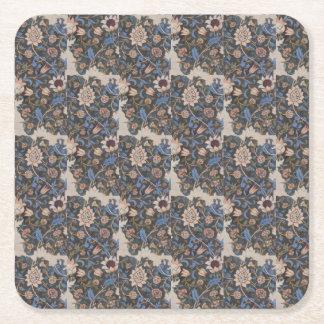 Vintage William Morris Evenlode Textile Design Square Paper Coaster