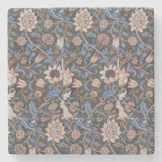 Vintage William Morris Evenlode Textile Design Stone Coaster
