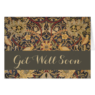 Vintage William Morris Get Well Greeting Card