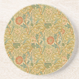 Vintage William Morris Pink and Rose Coaster