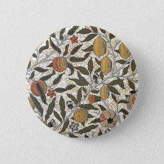 Vintage William Morris Pomegranate 6 Cm Round Badge