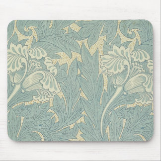 Vintage William Morris Tulip Floral Design Mouse Pad