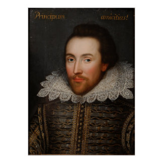 Vintage William Shakespeare Portrait Poster