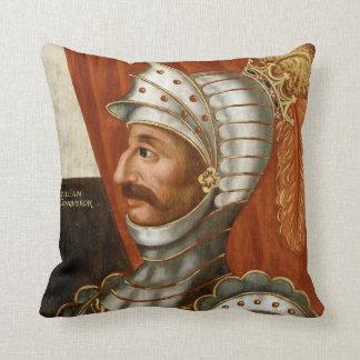 Vintage William The Conqueror Painting Cushion