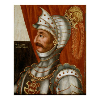 Vintage William The Conqueror Painting Poster