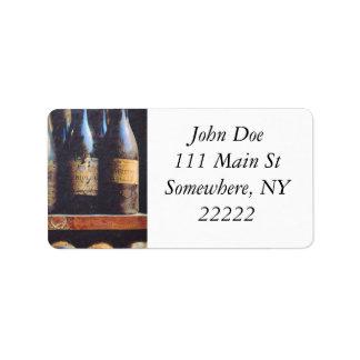 Vintage Wine Address Label