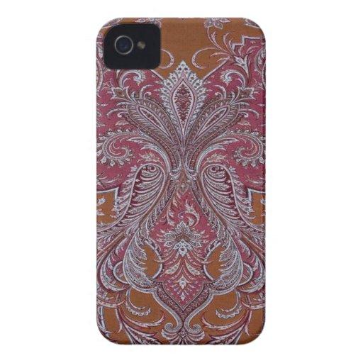 Vintage Wine Copper Damask BlackberryBold 97009780 Case-Mate Blackberry Case