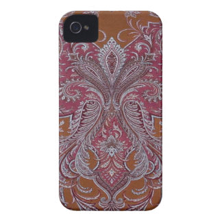 Vintage Wine Copper Damask BlackberryBold 97009780 iPhone 4 Case-Mate Cases