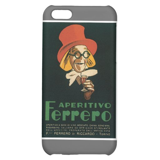 Vintage Wine Liquor Product Label Cover For iPhone 5C