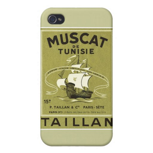 Vintage Wine Liquor Product Label iPhone 4/4S Cover