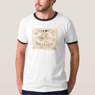 Vintage Wine, Love & Bicycles T-shirt