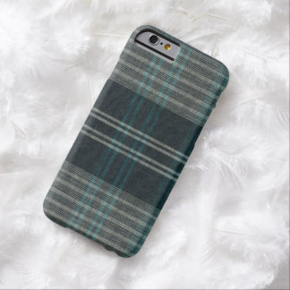 Vintage Winter Blue Woven Plaid Barely There iPhone 6 Case