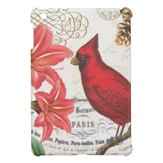 vintage winter cardinal iPad mini cover