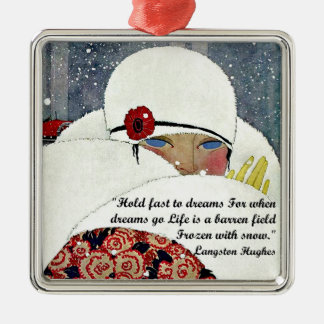 Vintage Winter Fashion Christmas Ornament