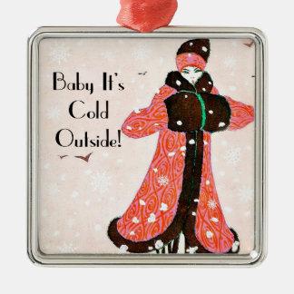 Vintage Winter Fashion Ornaments