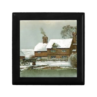 VIntage Winter Scene Gift Box