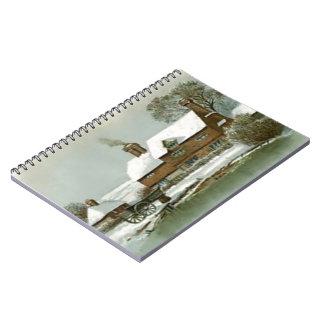 VIntage Winter Scene Notebook