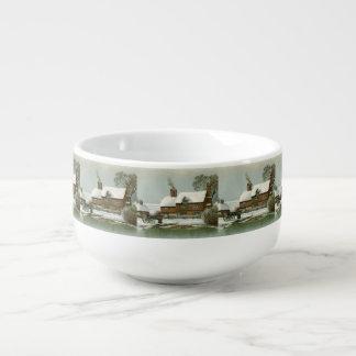 Vintage Winter Scene Soup Mug