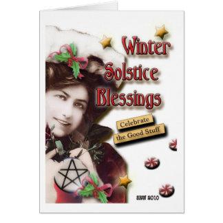 Vintage Winter Solstice Blessings Note Card